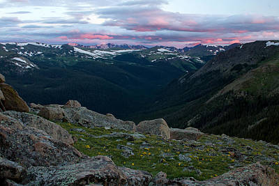 Gore Range Photograph - Sunrise On The Gore Range In Rocky Mountain National Park by Ronda Kimbrow