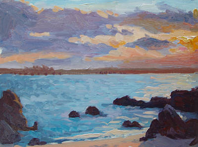 Sunrise On The Grotto Print by Dianne Panarelli Miller