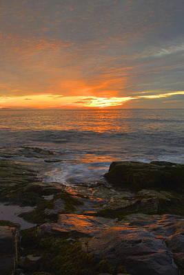Sunrise On The Gulf Of Maine Art Print by Stephen  Vecchiotti