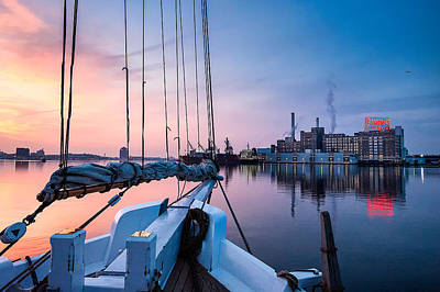Photograph - Sunrise On The Lady Maryland by Chuck Robinson