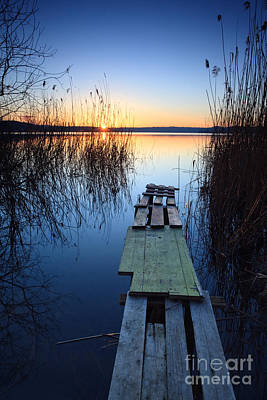Sunrise On The Lake II Art Print by Matteo Colombo