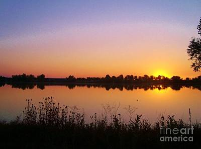 Sunrise On The Lake Art Print