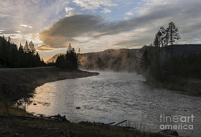 Photograph - Sunrise On The Madison River - Yellowstone by Sandra Bronstein