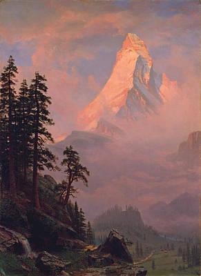 Sunrise On The Matterhorn Art Print by Albert Bierstadt