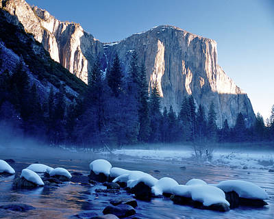 Sunrise On El Capitan Yosemite National Park Art Print