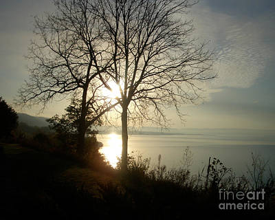 Photograph - Sunrise On The Mississippi by Nan Wright