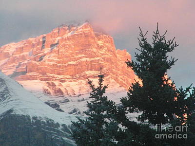 Photograph - Sunrise On The Mountain by Ann E Robson