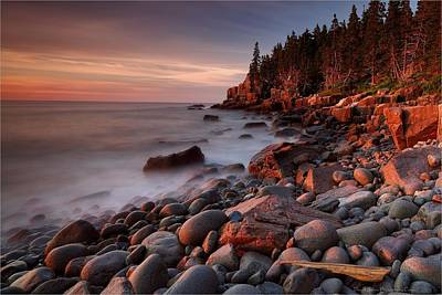 Photograph - sunrise on the Otter Cliffs by Daniel Behm