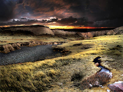 Sunrise On The Pawnee Grasslands Art Print by Ric Soulen