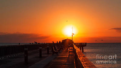 Photograph - Sunrise On The Pier by Sally Simon