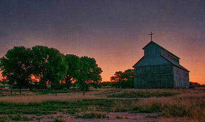 Southwest Church Photograph - Sunrise On The Ranch by Carolyn Dalessandro