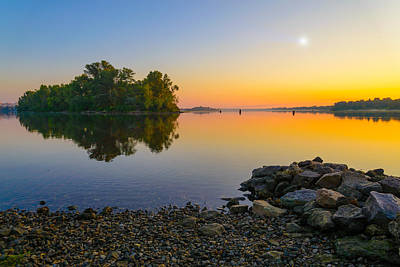 Dnieper Wall Art - Photograph - Sunrise On The River by Alain De Maximy