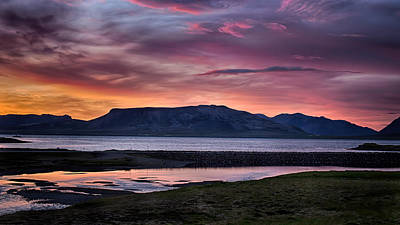 Sunrise On The Snaefellsnes Peninsula In Iceland Art Print