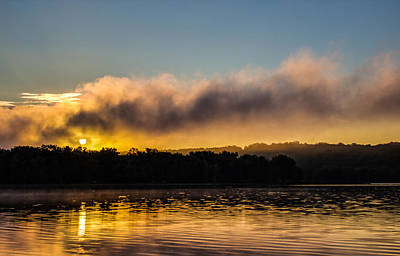 Stillwater Photograph - Sunrise On The St. Croix by Adam Mateo Fierro