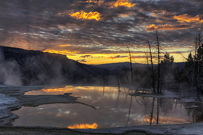 Mammoth Hot Springs Photograph - Sunrise On The Terrace by Mark Kiver