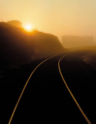 Photograph - Sunrise On The Tracks by Garry McMichael