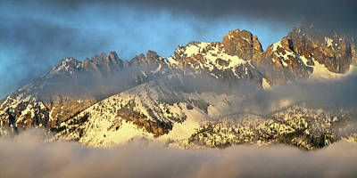 Sunrise On Thompson Peak Art Print