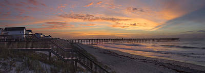 Sunrise On Topsail Island Panoramic Art Print by Mike McGlothlen