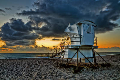 Sunrise On Vero Beach Hdr 1 Art Print