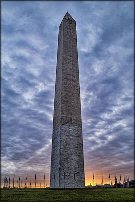Photograph - Sunrise On Washington Monument by Erika Fawcett