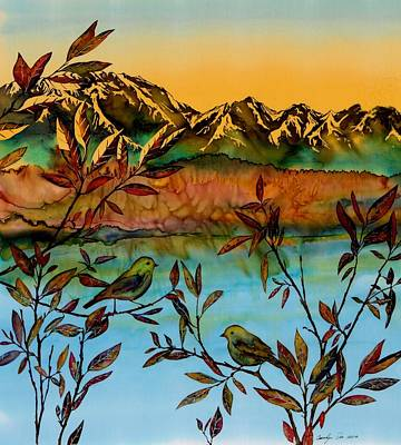 Sunrise On Willows Art Print by Carolyn Doe