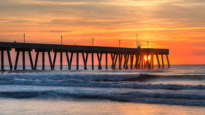 Photograph - Sunrise On Wrightsville Beach Nc by Craig Bowman