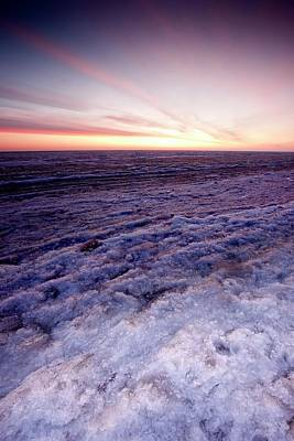 Beaufort Photograph - Sunrise Over A Frozen Beaufort Sea by Chris Madeley