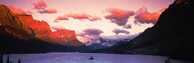 Sunrise Over A Lake, St. Mary Lake Art Print