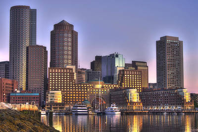 Photograph - Sunrise Over Boston Harbor 2 by Joann Vitali