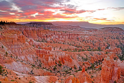 Photograph - Sunrise Over Bryce Amphetheater by Eric Foltz