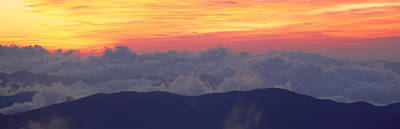Smokey Mountains Photograph - Sunrise Over Clingmans Dome, Great by Panoramic Images