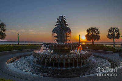 Photograph - Sunrise Over Downtown Charleston  by Dale Powell