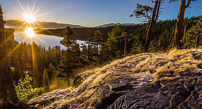 Emerald Bay Photograph - Sunrise Over Eaglefalls And Emerald Bay Lake Tahoe by Scott McGuire