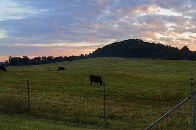Photograph - Sunrise Over Farm by Sharon Popek