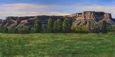 San Juan Painting - Sunrise Over Farmington Bluffs by Timithy L Gordon
