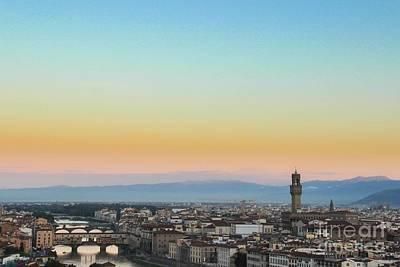 Photograph - Sunrise Over Florence by David Warrington