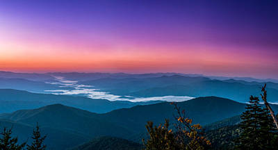 Photograph - Sunrise Over Fontana Lake Nc by Alex Banakas