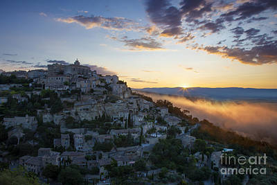 Photograph - Sunrise Over Gordes by Brian Jannsen