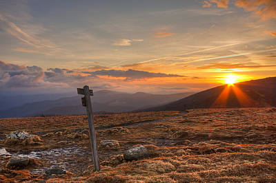 Photograph - Sunrise Over Grassy Bald by Jay Huron