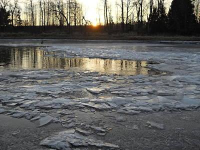 Photograph - Sunrise Over Ice by Kent Lorentzen