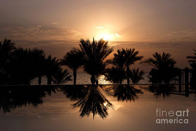 Sunrise Over Infinity Pool Art Print