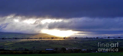 Photograph - Sunrise Over Irish Farms by Nina Ficur Feenan