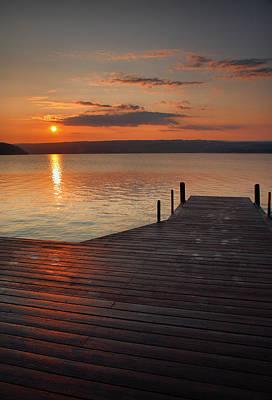 Finger Lakes Photograph - Sunrise Over Keuka Vii by Steven Ainsworth