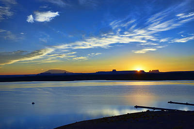 Photograph - Sunrise Over Lake Powell Az by Dana Sohr
