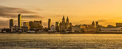 Sunrise Over Liverpool In The Morning Art Print by Paul Madden