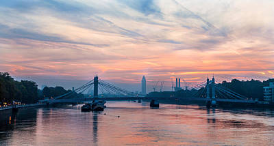 Sunrise Over London Art Print