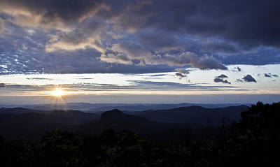 Photograph - Sunrise Over Looking Glass Rock by Craig T Burgwardt