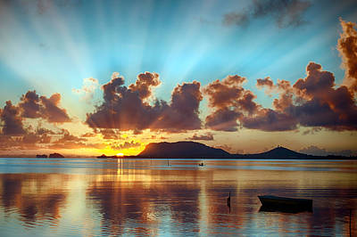 Sunrise Over Marine Corps Base Hawaii Art Print