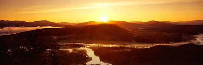Sunrise Over Mountains, Snake River Art Print by Panoramic Images