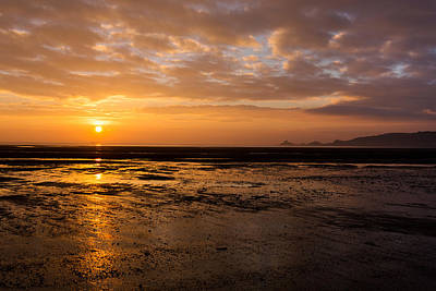 Photograph - Sunrise Over Mumbles Mudflats by Paul Cowan